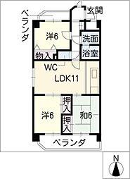 MENARGE KOMORI[4階]の間取り