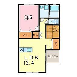 仮)永井様新築アパート[203号室]の間取り