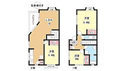 [テラスハウス] 大阪府豊中市上野西1丁目 の賃貸【大阪府 / 豊中市】の間取り