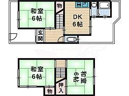 楠葉丘タウンハウス 2階3DKの間取り
