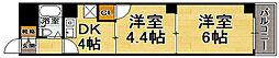 福岡県福岡市中央区清川2丁目の賃貸マンションの間取り