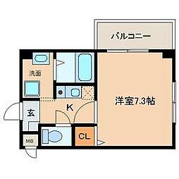 愛知県名古屋市守山区新守町の賃貸マンションの間取り