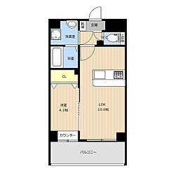 仮称)LIBTH(リブス)西新南[4階]の間取り