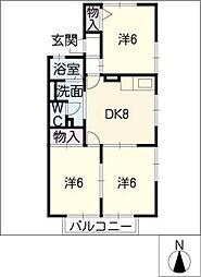 ファミール京町 A[1階]の間取り