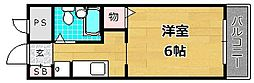 カーサアザレア[1階]の間取り
