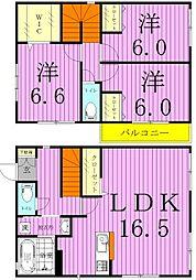 [タウンハウス] 千葉県松戸市樋野口 の賃貸【/】の間取り