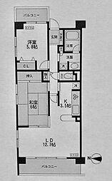 CASSIA横濱ガーデン山[401号室]の間取り
