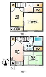 [タウンハウス] 長野県須坂市大字日滝大谷町 の賃貸【/】の間取り