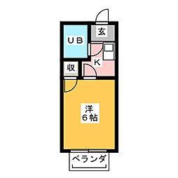 メゾンド・エンボワールI[2階]の間取り