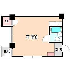 JPアパートメント豊中III[402号室]の間取り