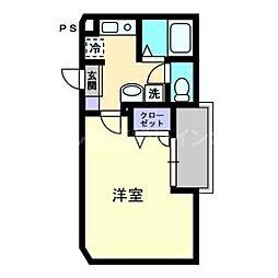 香川県高松市田町の賃貸マンションの間取り