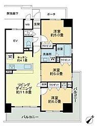 ソフィアガーデン博多[3階]の間取り