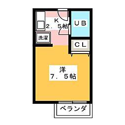 ローテローザ[2階]の間取り