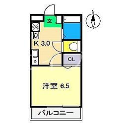 Reiwa1 2階1Kの間取り