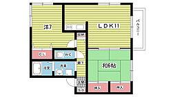 エイトハウス上野台[203号室]の間取り