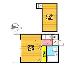 シャルマンハウス東豊田[105号室]の間取り