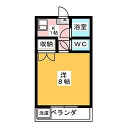 静岡県静岡市駿河区西大谷の賃貸アパートの間取り