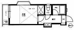 東京都北区田端1丁目の賃貸アパートの間取り