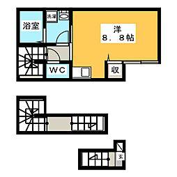 リオグランデ亀戸 3階ワンルームの間取り