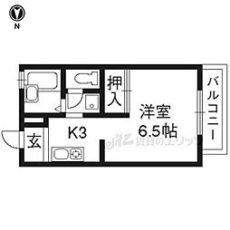 アートスクエア(NO.234) 1階1Kの間取り