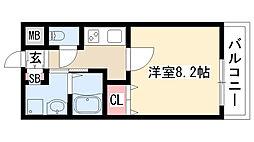 愛知県名古屋市緑区大高町字北横峯の賃貸アパートの間取り