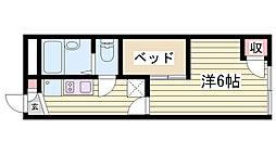 JR東海道・山陽本線 明石駅 バス15分 有瀬橋下車 徒歩2分の賃貸アパート 2階1Kの間取り