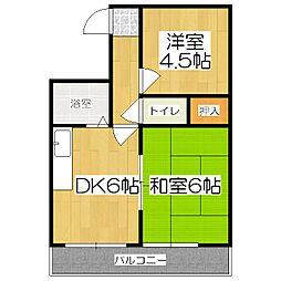 第3長栄マンション[305号室]の間取り