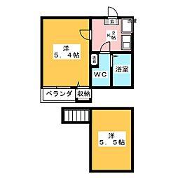 コンパートハウス桜本町[2階]の間取り