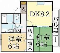セジュールいま井2[1階]の間取り