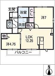 D−roomアドバンス[1階]の間取り