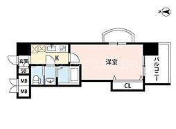阪急京都本線 崇禅寺駅 徒歩7分の賃貸マンション 13階1Kの間取り