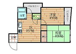 第2富士屋マンション[3階]の間取り