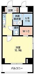 JR大阪環状線 桃谷駅 徒歩4分の賃貸マンション 6階1Kの間取り