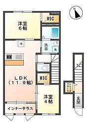 君津市法木作新築アパート[203号室]の間取り