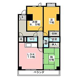 エイブル21[2階]の間取り