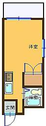 沖縄都市モノレール 儀保駅 10.9kmの賃貸マンション 3階ワンルームの間取り