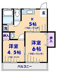 第2山文荘[102号室]の間取り