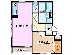 グローバルトラストマンション[4階]の間取り