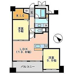 アクロス天神センタープラザ[8階]の間取り