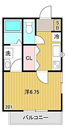 東京都武蔵野市緑町1丁目の賃貸アパートの間取り