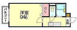 リバーサイドシティIII[2階]の間取り