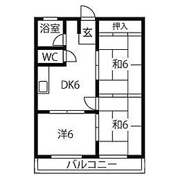 水善ビル[2階]の間取り
