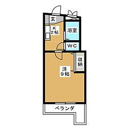 富士レイホービル第3[4階]の間取り