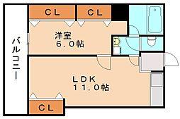 レーオロイヤルII[1階]の間取り
