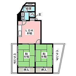 金子ビル[3階]の間取り