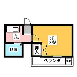 サンコーポ富士[2階]の間取り
