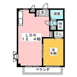 愛花夢[2階]の間取り