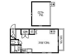 高知市朝倉己 賃貸マンション 1R 4階ワンルームの間取り