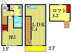 SIZZLE 01 2階1LDKの間取り