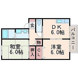 エクレール西宮[2階]の間取り